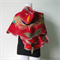Felted Scarf Wool Silk Nunofelting