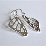 Butterfly Wing Earrings. Butterfly Earrings. Monarch Butterfly Earrings.