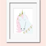 A4 unicorn print wall art