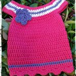 Handmade Crochet Dress for a Newborn Baby.... RED Ready NOW...
