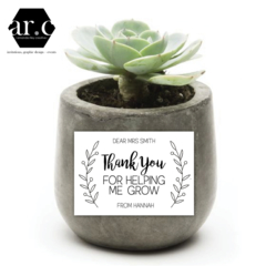 Personalised Teacher / Carer / Christmas / Thank You Pot Plant Sticker