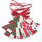 Christmas Tree Garland, Christmas Designer Fabrics, Double Sided, Red Ties