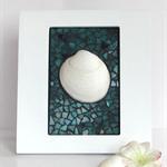 One Little Shell framed decor in mosaic
