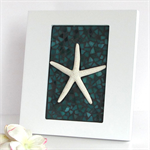 One Little Sea Star framed decor in mosaic
