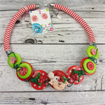 Elf- Twisted - Button Fusion Necklace - Button Jewellery - Earrings