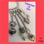 THINKING OF YOU - keyring or bagcharm