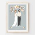 Personalised Wedding Portrait. Custom digital illustrated design. Gift Idea