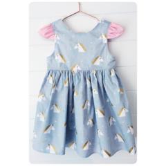 UNICORN DREAMS party dress, sz1
