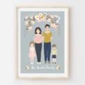 Personalised Family Portrait. Custom digital illustrated design. Great gift Idea