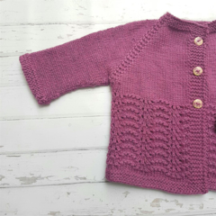 Little Cardigan - Hand Knitted - Size 0 - Bamboo/Merino