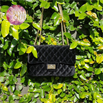 Luxurious velvet bags, embellished with Swarovski crystals - Onyx
