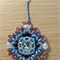 Snow White Rivoli Beaded Pendant Necklace