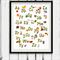 Lego Alphabet Wall Art Print