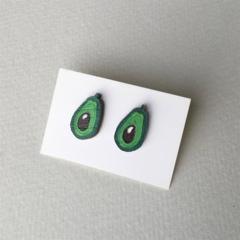 Avocado Earrings Rockabilly Accessories Pinup Mini Fruit Jewellery