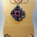 Purple Swarovski Rivoli Beaded Pendant Necklace