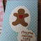 Gingerbread Man Greeting Card ~ Christmas ~ Greeting Card ~ Ready to Post