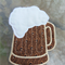 Fabric Beer Mug Coaster