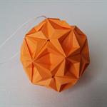 Origami Star Bauble Orange