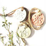 Christmas Aromatherapy Clay Pendant Diffuser - Leather Strap