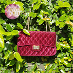 Luxurious velvet bags, embellished with Swarovski crystals - Ruby