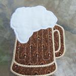 Fabric Beer Mug Coaster