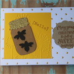 Bee Card ~ Christmas Card ~ Bee Lovers ~ Lovers of Honey Card