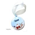 Personalised Christmas decorations Santa and friends