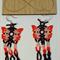Orange Butterfly Beaded Earrings
