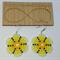 Yellow Flower Beaded Earrings