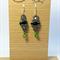 Green Hornet Beaded Earrings