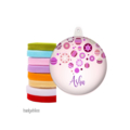 Personalised Christmas decorations Pink Bauble
