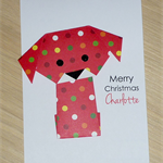 Personalised Christmas card - puppy dog