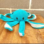 Crochet Baby Octopus, Soft Toy, Nautical Nursery Decor, Cotton Sea Creature
