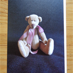 Greeting card featuring 'Edward' - a Bearly Bears mini teddy