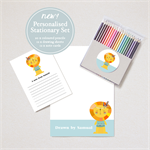 Personalised Stationary Set - Includes Drawing sheets, Note cards and Pencils.