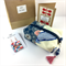 Christmas gift set- handcrafted earrings, kimono fabric purse, keyring and card