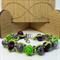 Purple Skulls & Roses Beaded Bracelet