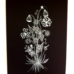 A5 Original Whimsical Botanical Doodle artwork #03