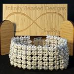 White Lace Beaded Bracelet