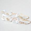 Elegant Clear Rock Crystal 14K Gold filled Earrings, April Birthstone