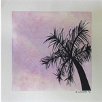 Sunset Palm - Original Watercolour Painting