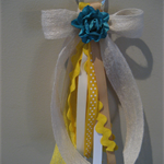 Yellow Ribbon Tassel Keyring