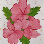 Hibiscus Bloom - Original Watercolour Painting
