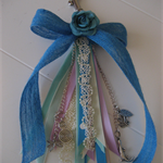Ribbon Tassel Keyring or Handbag Bling