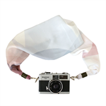 Scarf Camera Strap – soft pastel, silk scarf, camera accessories, DSLR, floral