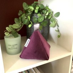 Doorstop 'Eggplant' Velvet Regular size