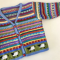 Reserved listing for @maryjononBlue Sheep Cardigan - Size 1-2 years Hand knitted