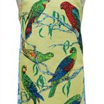 Metro Retro AUSTRALIAN PARROTS Birds Vintage Apron - Birthday  Mother's Day Gift