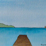 Solitary Pier - Original Watercolour Painting