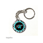Ovarian cancer keyring.